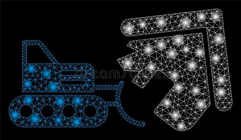 Κατεδάφιση σπιτιών δικτύων πλέγματος φλογών με τα σημεία φλογών απεικόνιση αποθεμάτων