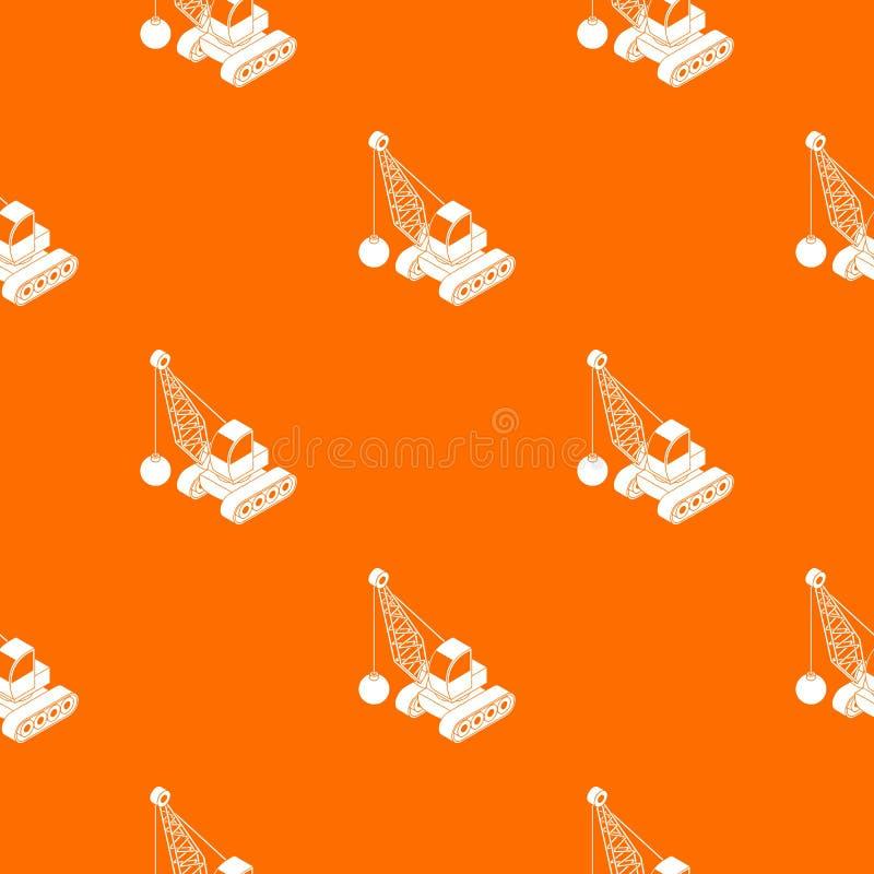 Κατεδαφίστε το διανυσματικό πορτοκάλι σχεδίων φορτηγών απεικόνιση αποθεμάτων