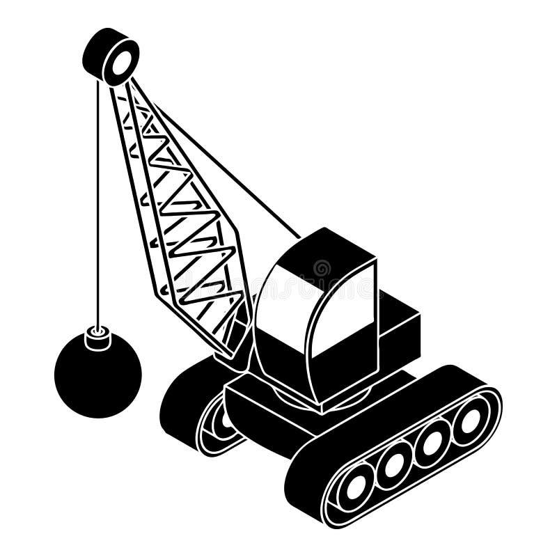 Κατεδαφίστε το εικονίδιο φορτηγών, απλό ύφος απεικόνιση αποθεμάτων