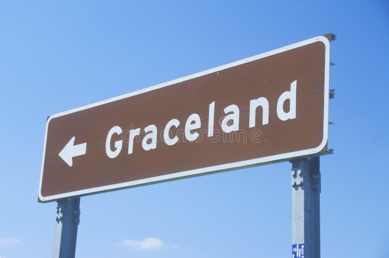Κατευθυντικό σημάδι σε Graceland, σπίτι του Elvis Presley, Μέμφιδα, TN στοκ φωτογραφία
