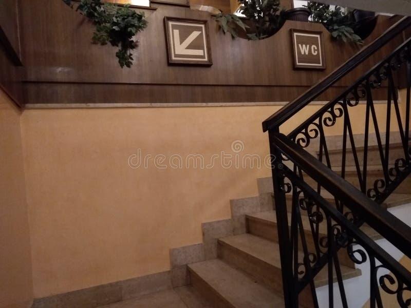 Κατεύθυνση WC προς τα κάτω στοκ φωτογραφία με δικαίωμα ελεύθερης χρήσης