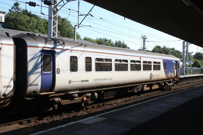 Κατηγορία 156 έξοχο τραίνο sprinter σε Carnforth στοκ εικόνες με δικαίωμα ελεύθερης χρήσης