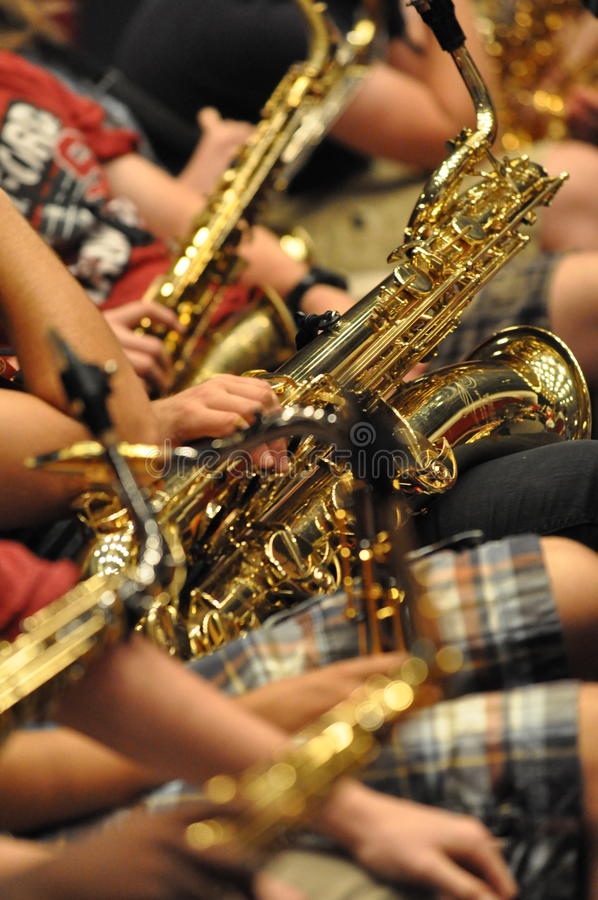 Κατηγορία Saxophone στοκ φωτογραφία με δικαίωμα ελεύθερης χρήσης
