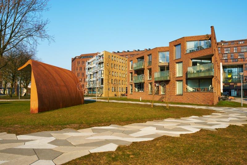 Κατοικήσιμη περιοχή Funenpark στο Άμστερνταμ στοκ εικόνες