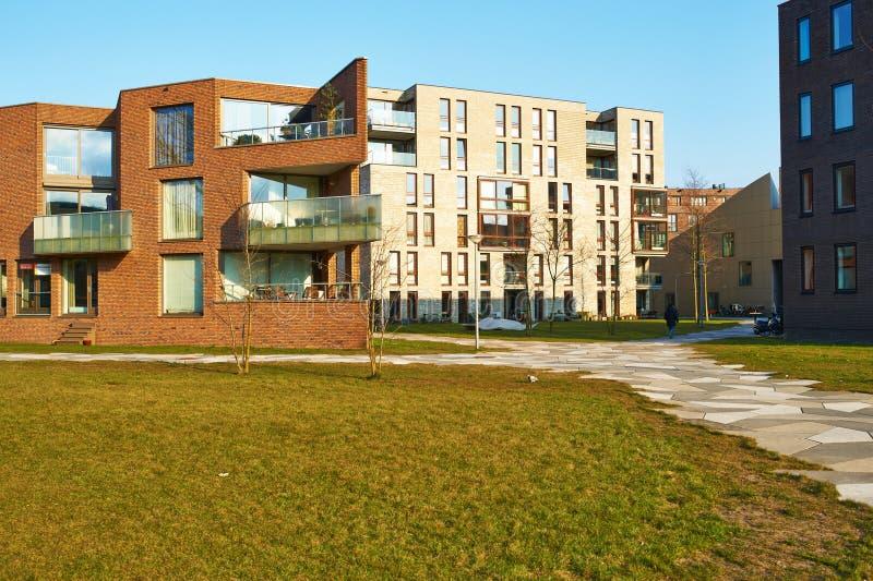 Κατοικήσιμη περιοχή Funenpark στο Άμστερνταμ στοκ φωτογραφία με δικαίωμα ελεύθερης χρήσης