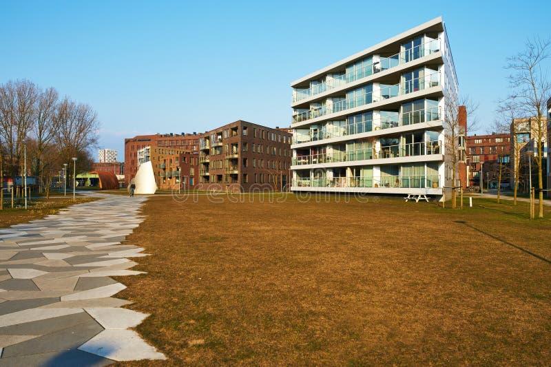 Κατοικήσιμη περιοχή Funenpark στο Άμστερνταμ στοκ φωτογραφίες με δικαίωμα ελεύθερης χρήσης