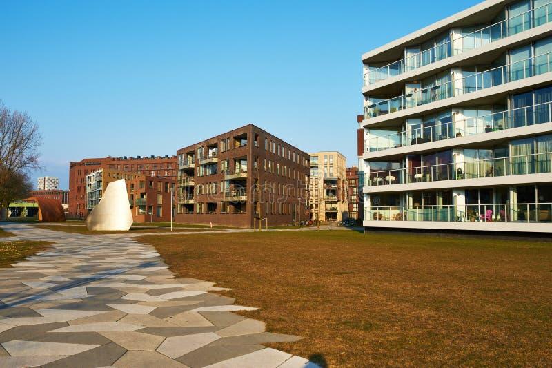 Κατοικήσιμη περιοχή Funenpark στο Άμστερνταμ στοκ φωτογραφία