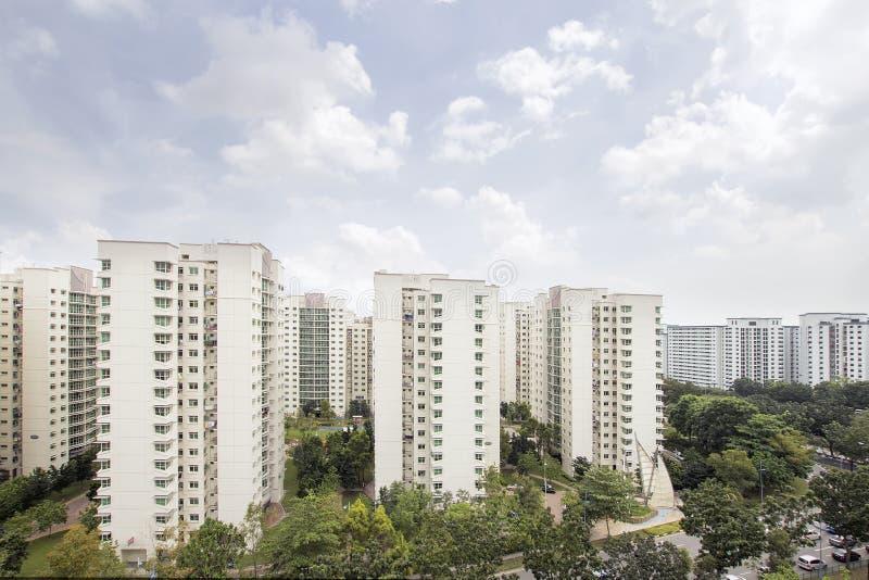 Κατοικία διαμερισμάτων της Σιγκαπούρης στοκ φωτογραφία