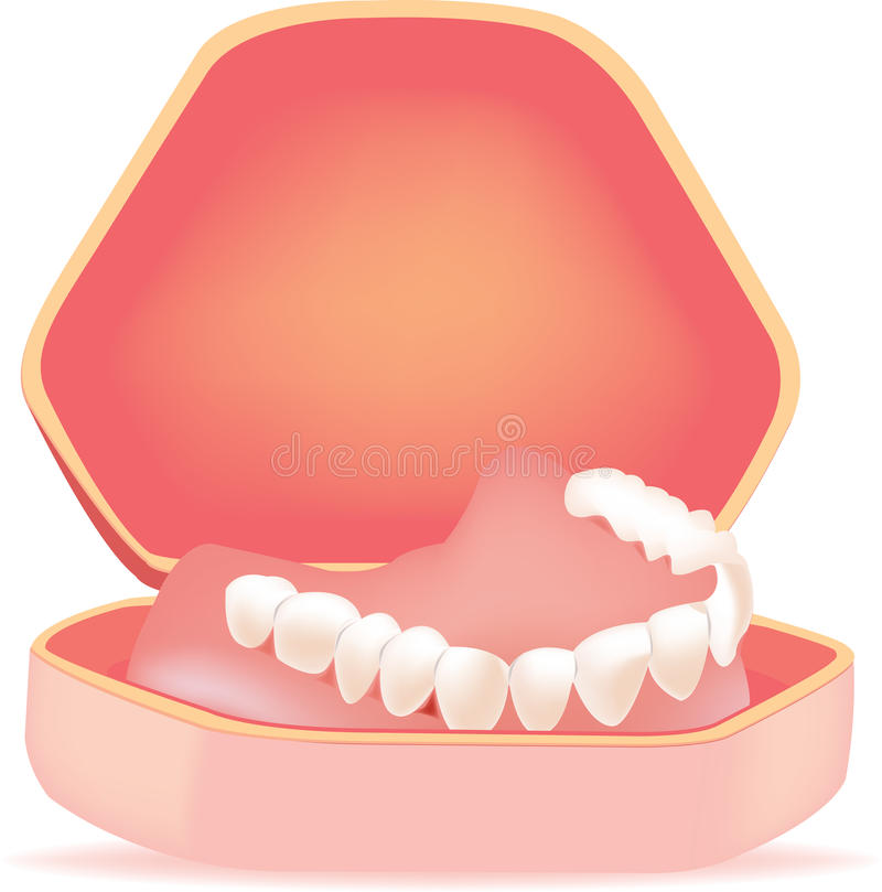 Κατοικία οδοντοστοιχιών ελεύθερη απεικόνιση δικαιώματος