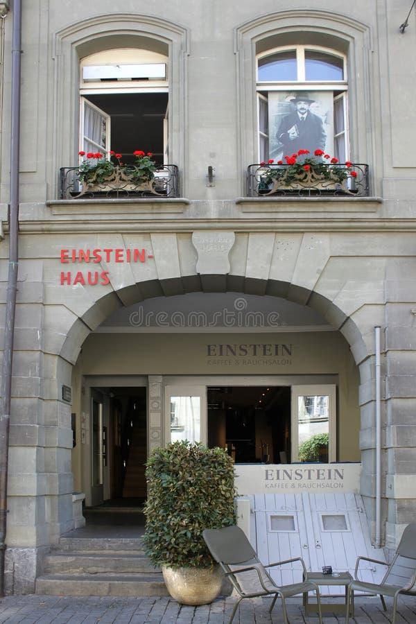 κατοικία einstein Ελβετία Αλβέ&rh στοκ φωτογραφία με δικαίωμα ελεύθερης χρήσης