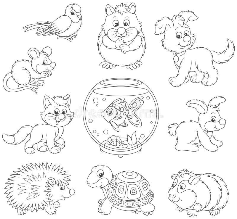 κατοικίδια ζώα που τίθεν&ta απεικόνιση αποθεμάτων