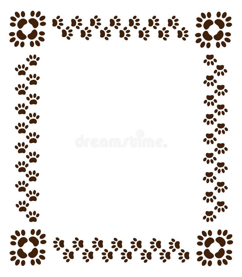 Κατοικίδια ζώα τυπωμένων υλών ποδιών συνόρων στο λευκό διανυσματική απεικόνιση