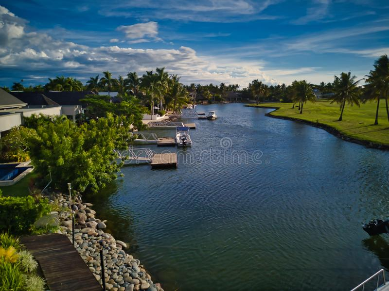 Κατοικίες νησιών στα Φίτζι στοκ εικόνες