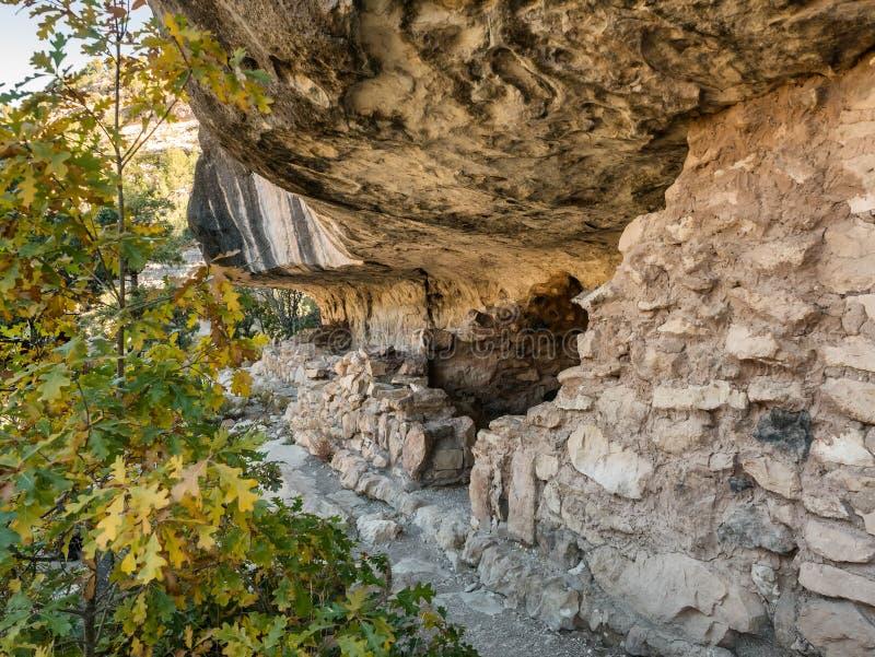 Κατοικίες στο εθνικό μνημείο φαραγγιών ξύλων καρυδιάς κοντά Flagstaff, στοκ εικόνες