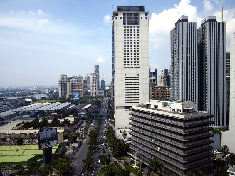 Κατοικημένα και εμπορικά κτήρια στη Πάσινγκ, Φιλιππίνες στοκ φωτογραφίες