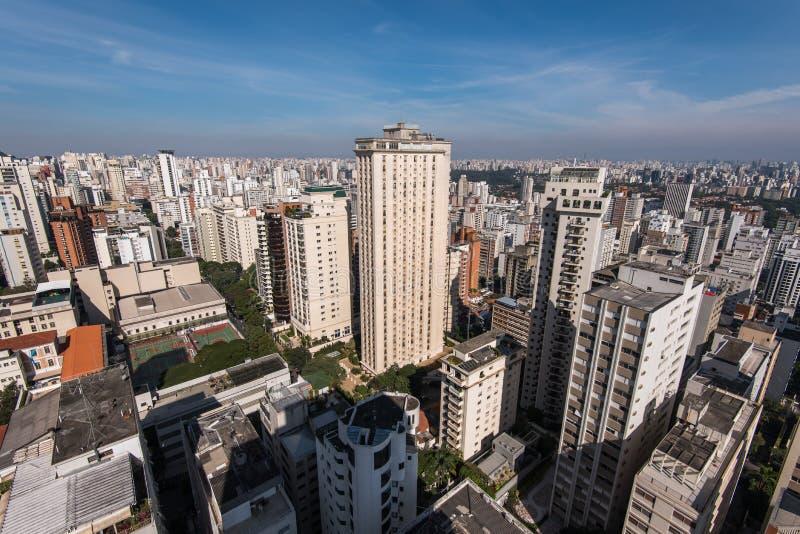 Κατοικημένα κτήρια του Σάο Πάολο στοκ εικόνα
