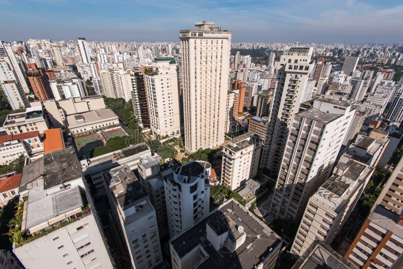 Κατοικημένα κτήρια του Σάο Πάολο στοκ φωτογραφία με δικαίωμα ελεύθερης χρήσης