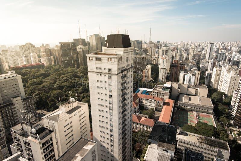 Κατοικημένα κτήρια του Σάο Πάολο στοκ εικόνες