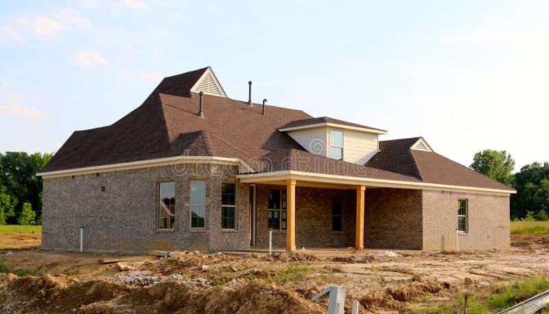 Κατοικημένο σπίτι κάτω από την κατασκευή στοκ εικόνες με δικαίωμα ελεύθερης χρήσης