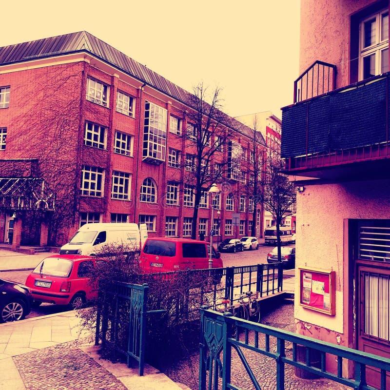 Κατοικημένο σπίτι στο Βερολίνο, Γερμανία στοκ φωτογραφία με δικαίωμα ελεύθερης χρήσης