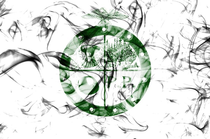 Κατουρήστε σημαία καπνού πόλεων δήμων κατουρήματος, κράτος του Οχάιου, Ηνωμένες Πολιτείες της Αμερικής διανυσματική απεικόνιση