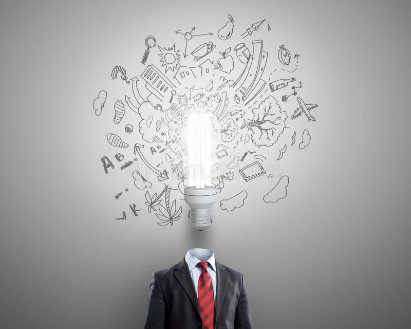 Κατοχή της μεγάλης ιδέας στο κεφάλι διανυσματική απεικόνιση
