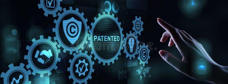 Κατοχυρωμένη με δίπλωμα ευρεσιτεχνίας έννοια επιχειρησιακής τεχνολο απεικόνιση αποθεμάτων