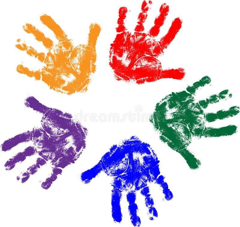 κατσίκια χεριών διανυσματική απεικόνιση