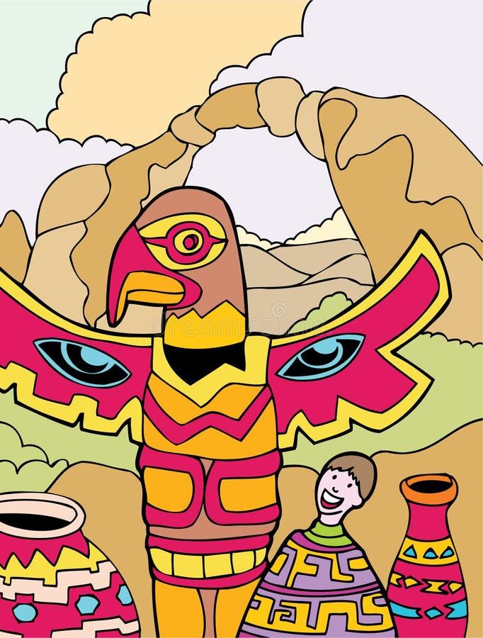 κατσίκι Μεξικό περιπετει διανυσματική απεικόνιση