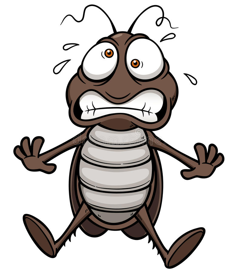Κατσαρίδα κινούμενων σχεδίων απεικόνιση αποθεμάτων