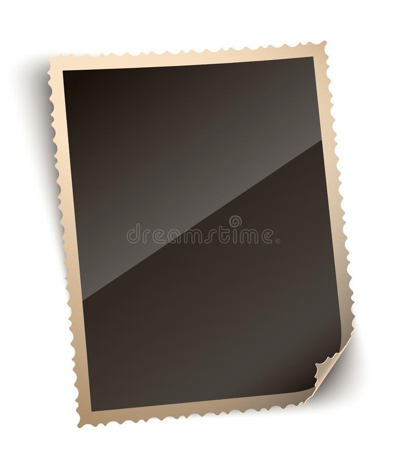 Κατσαρωμένη διανυσματική απεικόνιση πλαισίων εγγράφου φωτογραφιών γωνιών ελεύθερη απεικόνιση δικαιώματος