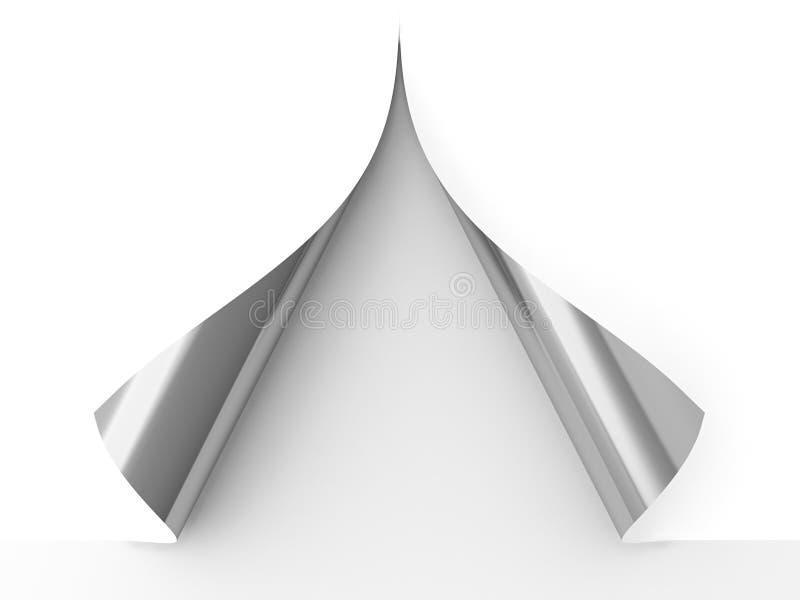 κατσαρωμένο έγγραφο απεικόνιση αποθεμάτων