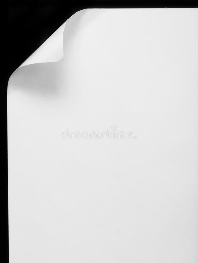 κατσαρωμένο φύλλο εγγράφου επάνω στοκ φωτογραφία με δικαίωμα ελεύθερης χρήσης