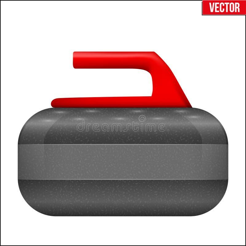 Κατσαρώνοντας εξοπλισμός πετρών διανυσματική απεικόνιση