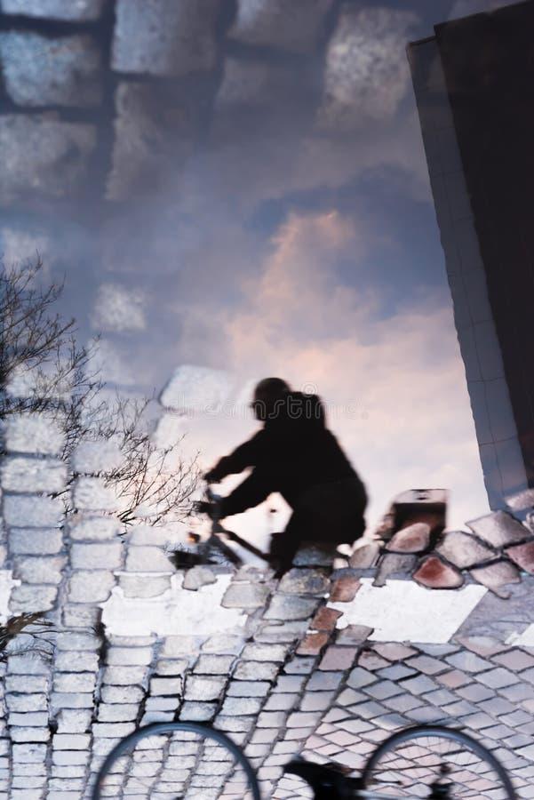 Κατώτατο σημείο αντανάκλασης ποδηλατών επάνω στοκ φωτογραφία με δικαίωμα ελεύθερης χρήσης