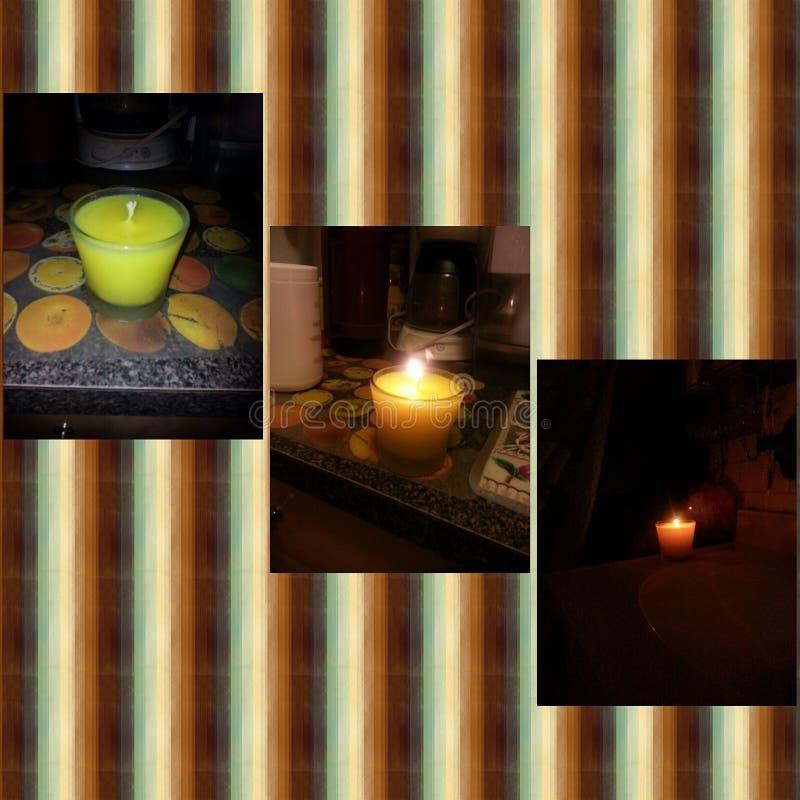 Κατ' οίκον γίνοντα Scented κερί στοκ εικόνα