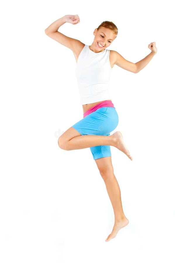 Καυκάσια άσκηση γυναικών στοκ εικόνες