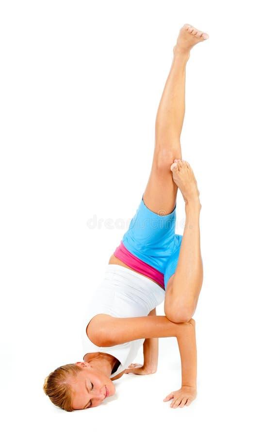 Καυκάσια άσκηση γυναικών στοκ φωτογραφία με δικαίωμα ελεύθερης χρήσης