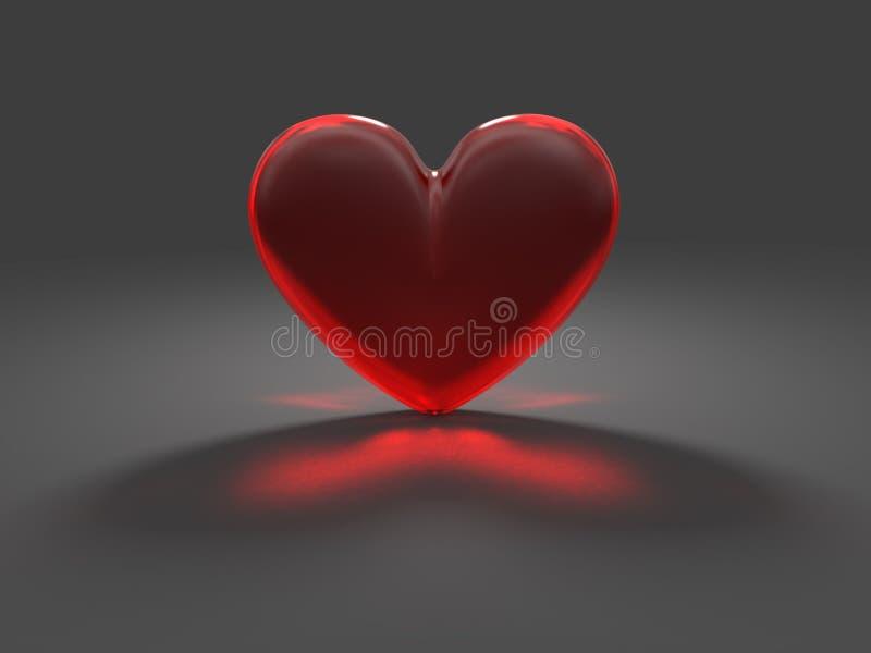 καυστικό μυστήριο κόκκινο καρδιών επίδρασης διανυσματική απεικόνιση