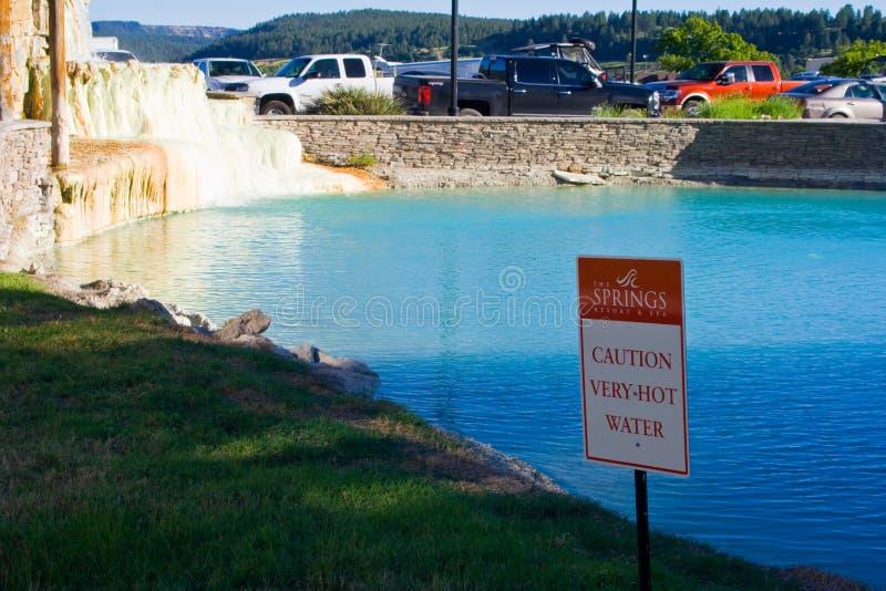 Καυτές ανοίξεις στο θέρετρο ανοίξεων τις ανοίξεις Pagosa στο Κολοράντο στοκ εικόνες με δικαίωμα ελεύθερης χρήσης