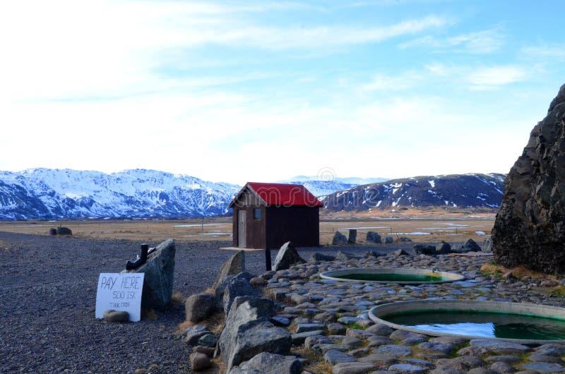 Καυτές σκάφες στην Ισλανδία στοκ εικόνες
