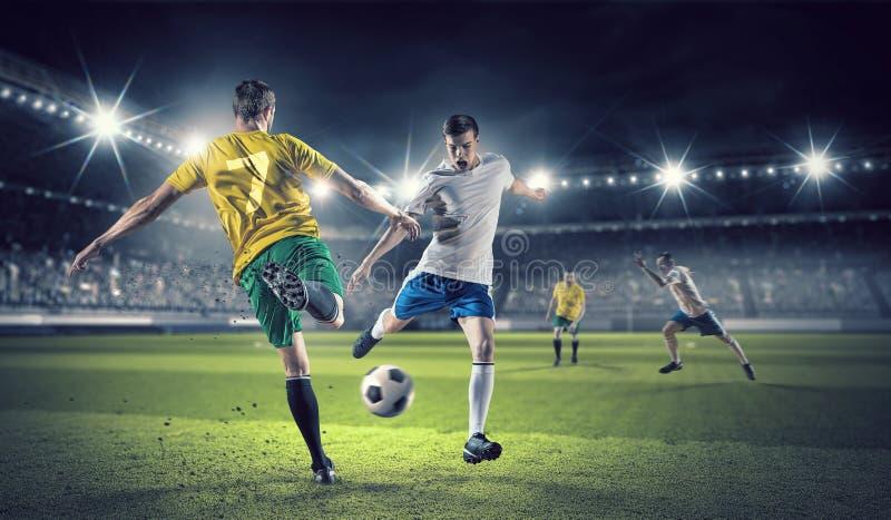 Καυτές στιγμές ποδοσφαίρου στοκ εικόνα