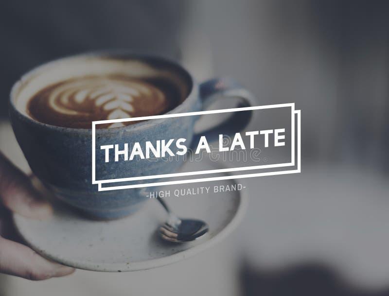 Καυτή έννοια ευχαρίστησης καφέ Latte ευχαριστιών στοκ φωτογραφία