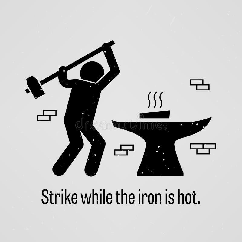 καυτή απεργία σιδήρου απεικόνιση αποθεμάτων