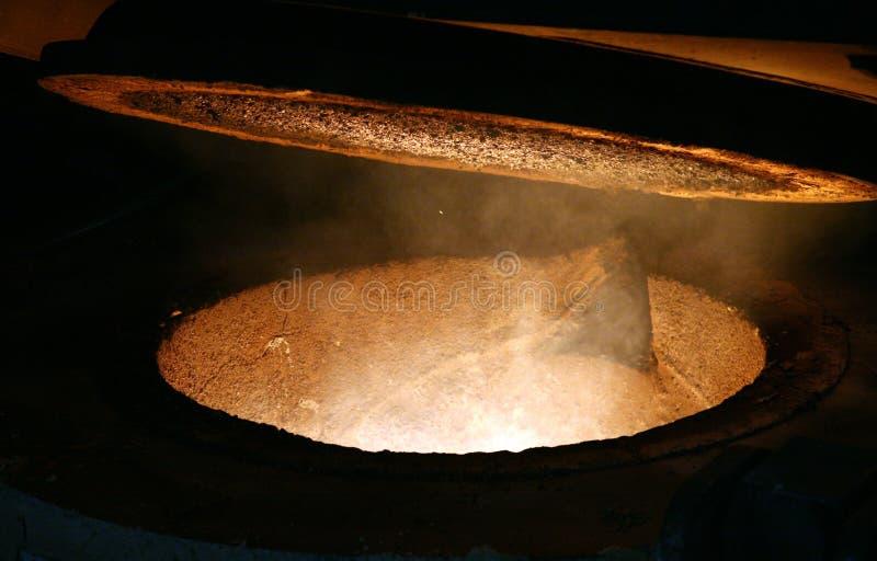 καυτή κατσαρόλα σιδήρου στοκ εικόνες με δικαίωμα ελεύθερης χρήσης