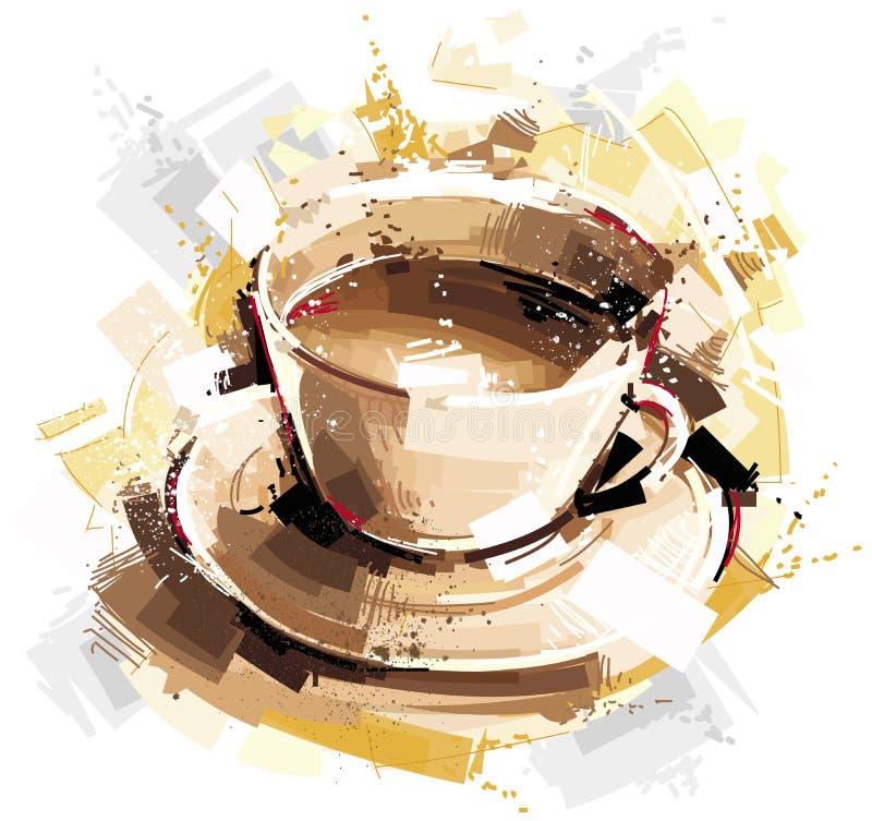 Καυτή κούπα καφέ ελεύθερη απεικόνιση δικαιώματος