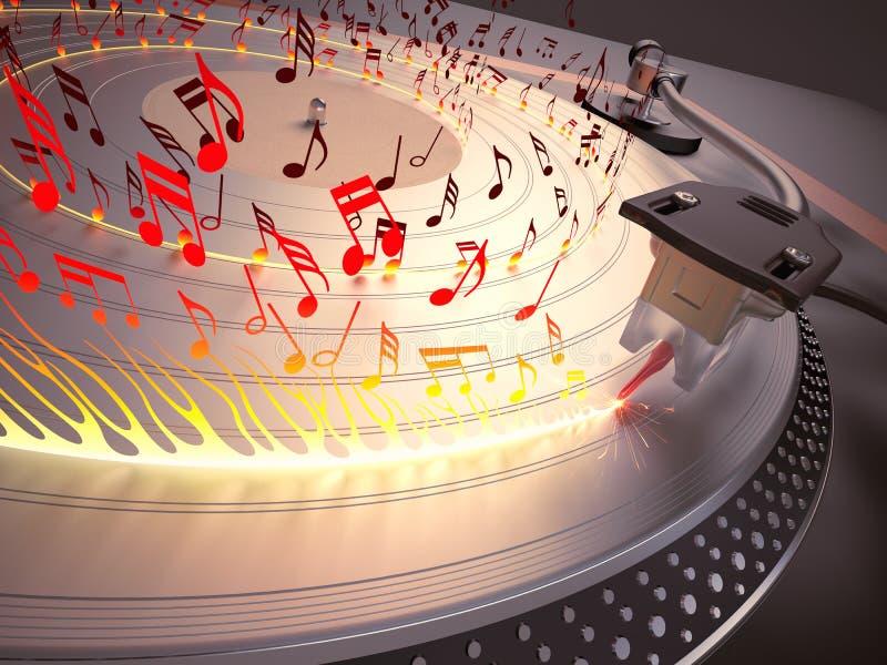 Καυτή μουσική διανυσματική απεικόνιση