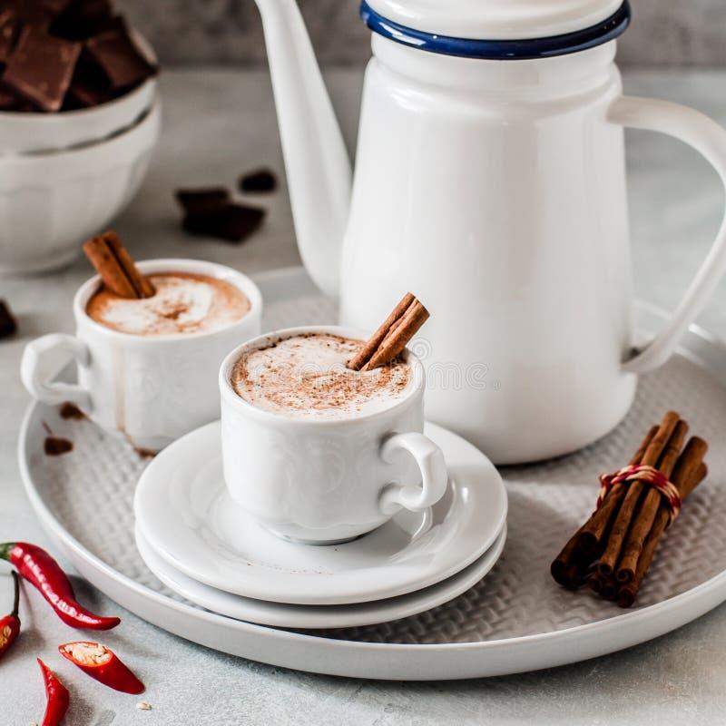 Καυτή σοκολάτα με το τσίλι στοκ φωτογραφία με δικαίωμα ελεύθερης χρήσης