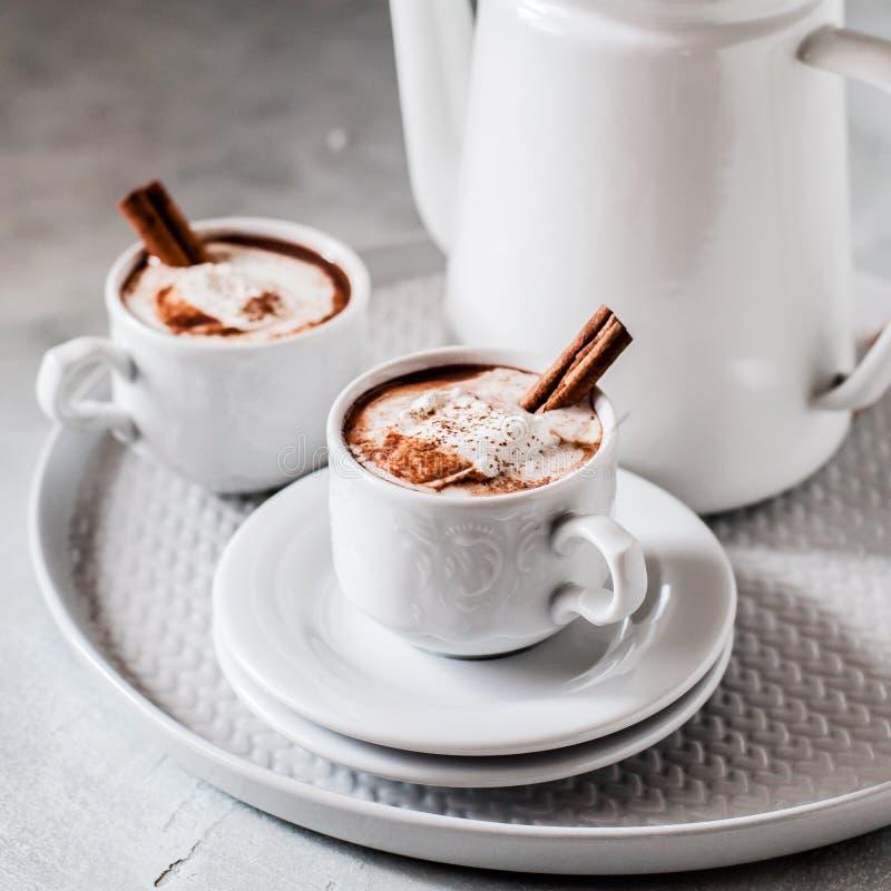 Καυτή σοκολάτα με το τσίλι στοκ εικόνες