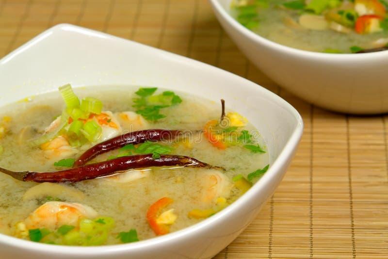 καυτή σούπα γαρίδων ξινή στοκ εικόνα με δικαίωμα ελεύθερης χρήσης